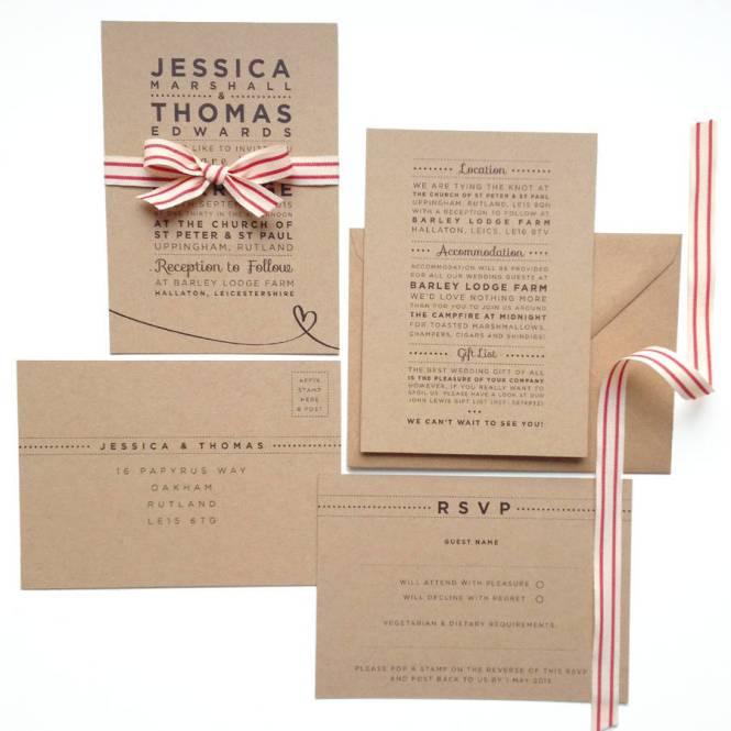 Henley Rustic Kraft Wedding Stationery