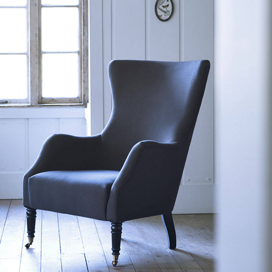bromley wing back chair by rowen  wren