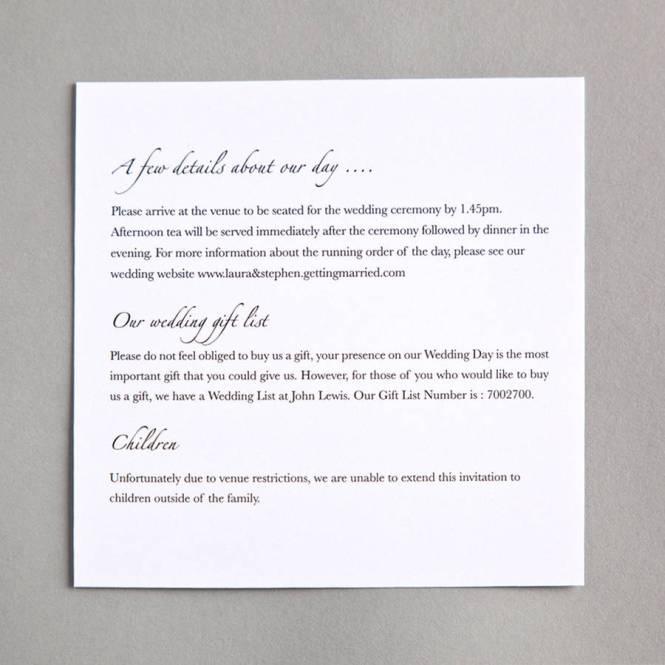 Bow Wedding Invitation