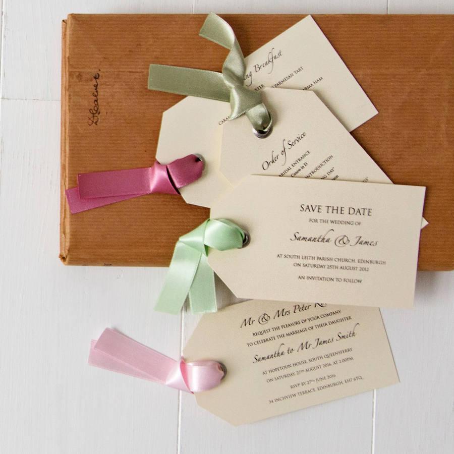 luggage tag wedding invitation by twentyseven