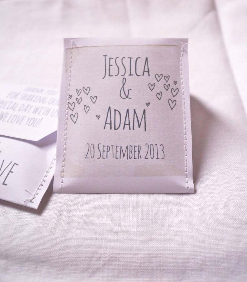 doodle wedding tea bag favour a pack of 10 by victoria mae
