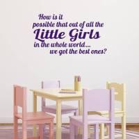best girls wall sticker by mirrorin | notonthehighstreet.com