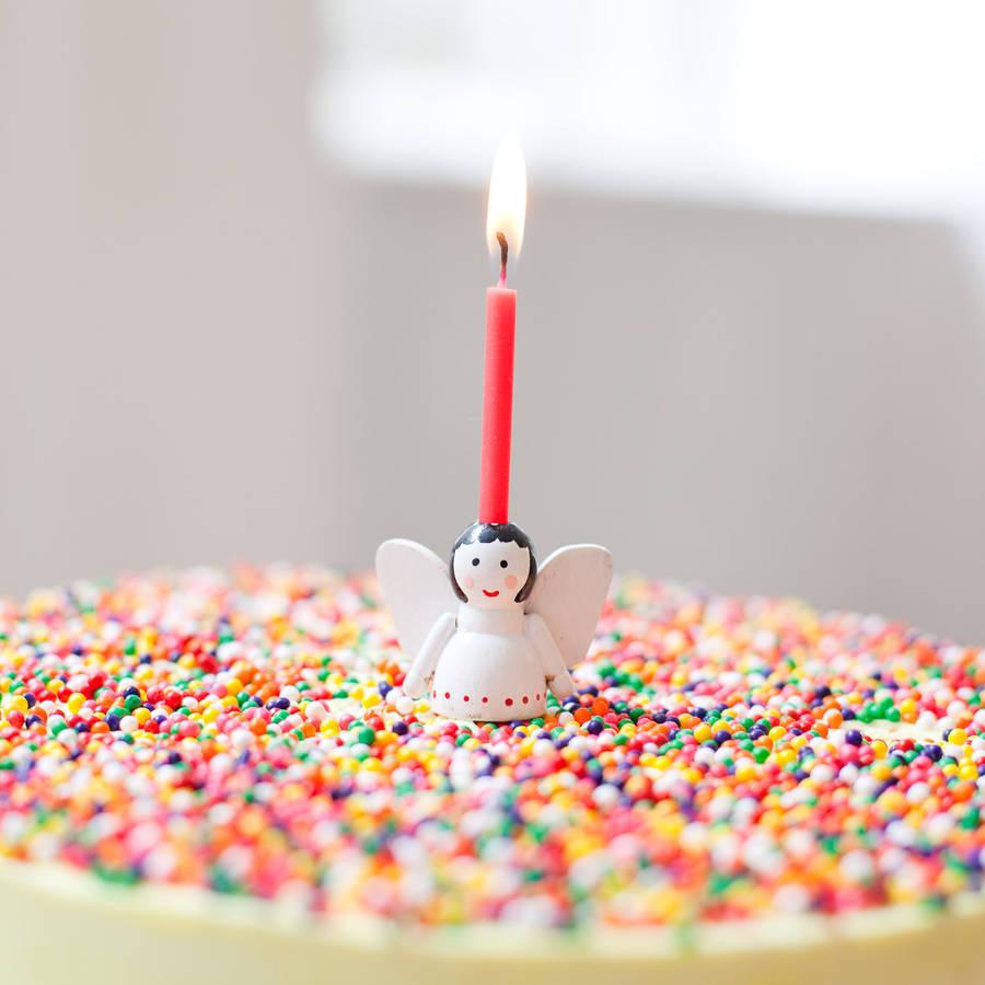 angel cake candle holderrose and frank | notonthehighstreet