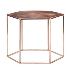Hanging Chair Notonthehighstreet Office Gliders Copper Plated Hexagonal Coffee Table By Out There Interiors   Notonthehighstreet.com