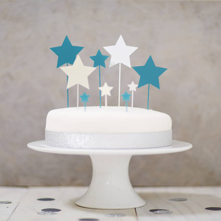 star cake topper set by sophia victoria joy  notonthehighstreetcom