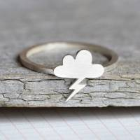 lightning cloud ring in sterling silver by huiyi tan ...