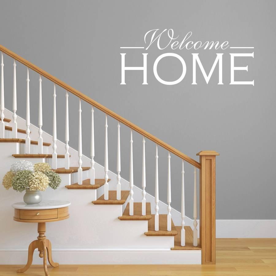 welcome home hallway wall sticker by mirrorin  notonthehighstreetcom