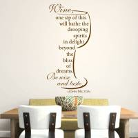 wine quote wall sticker by mirrorin | notonthehighstreet.com