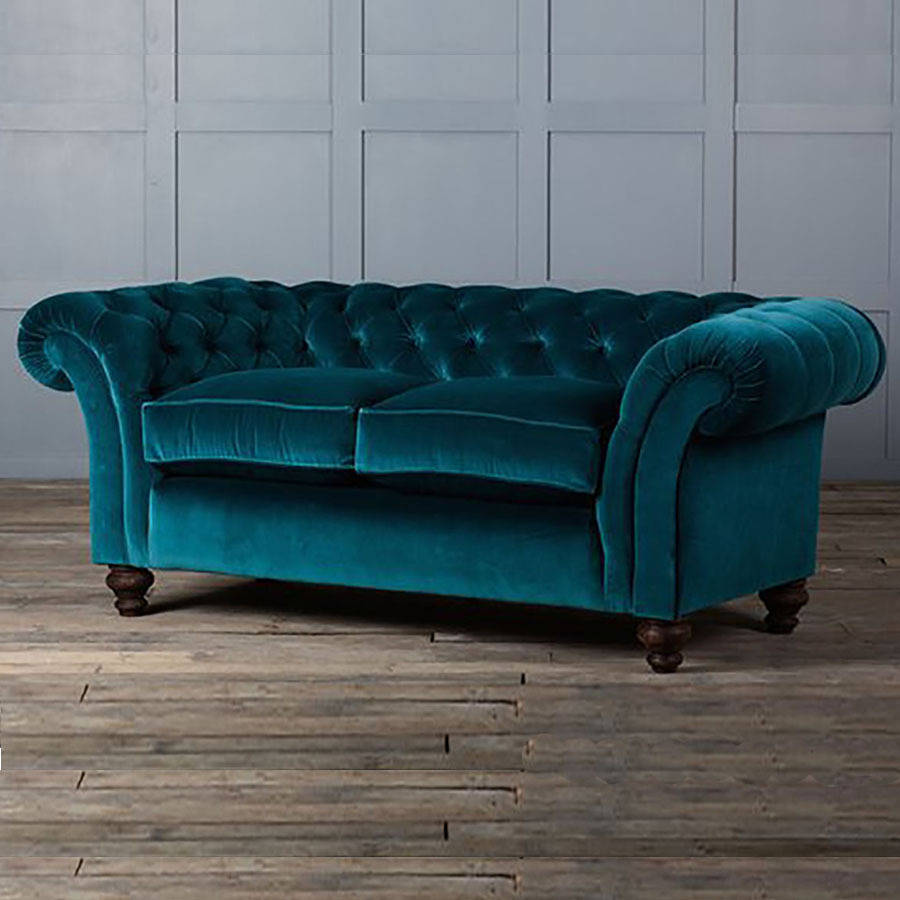blue velvet chesterfield sofa teak wood set images teal home