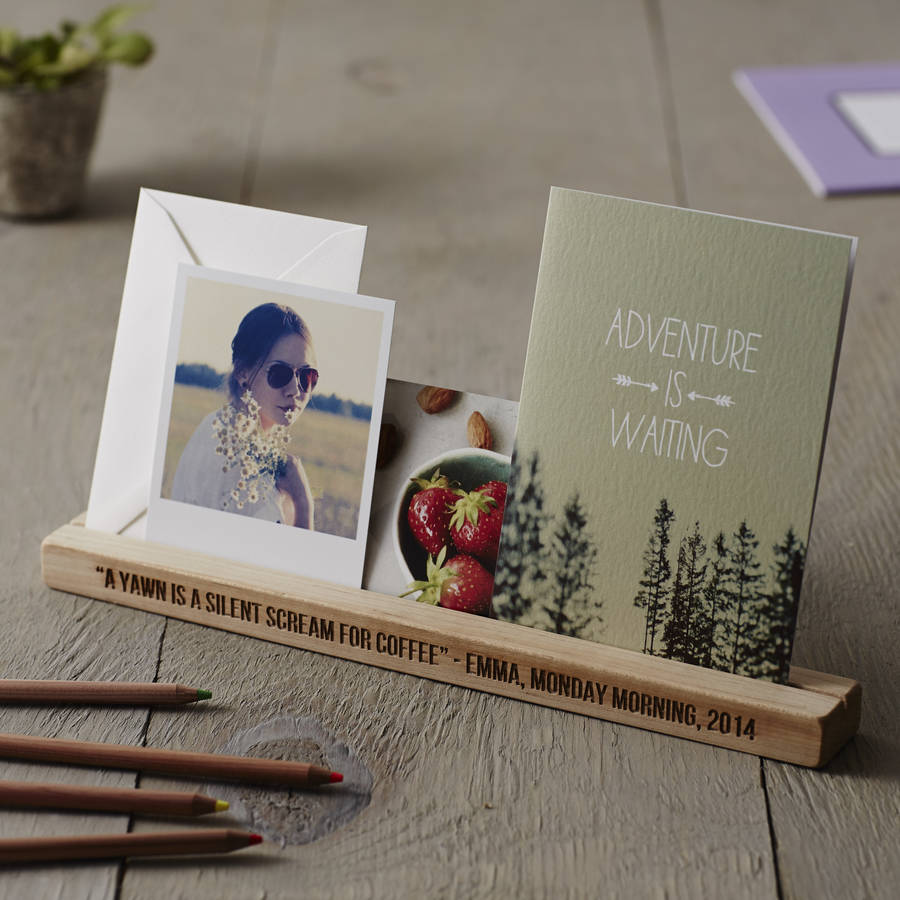 personalised desk organiser