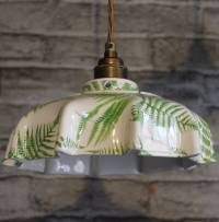 campbell fern ceramic pendant light by lyngard ceramics ...