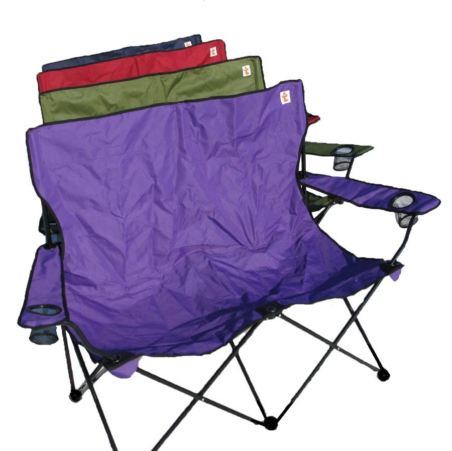 personalised outdoor double folding chair by shortbread