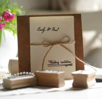 diy wedding invitations personalised rubber stamps set by