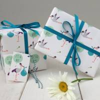 new baby boy gift wrap by the little blue owl ...