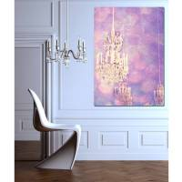 paris chandelier canvas wall art by ruby and b ...