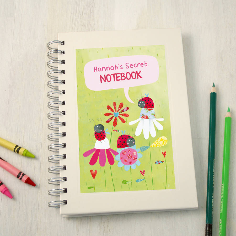 Personalised Girl's Notebook By Made By Ellis   notonthehighstreet.com