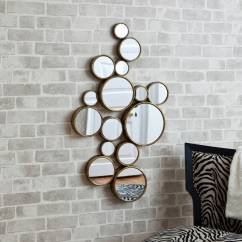 Funky Mirrors For Living Room Chest Circles Mirror By Decorative Online