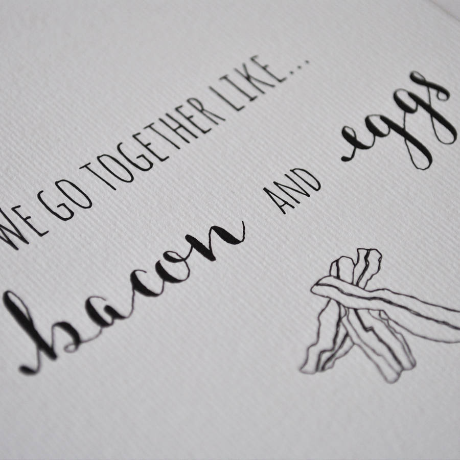 'we go together like' anniversary card by the two wagtails