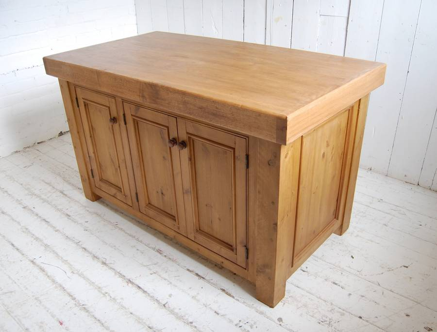 reclaimed solid wood kitchen island by eastburn country