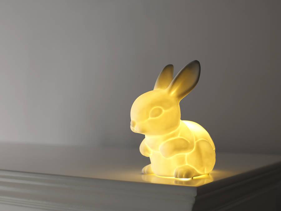 ceramic bunny night light by bambizi  notonthehighstreetcom