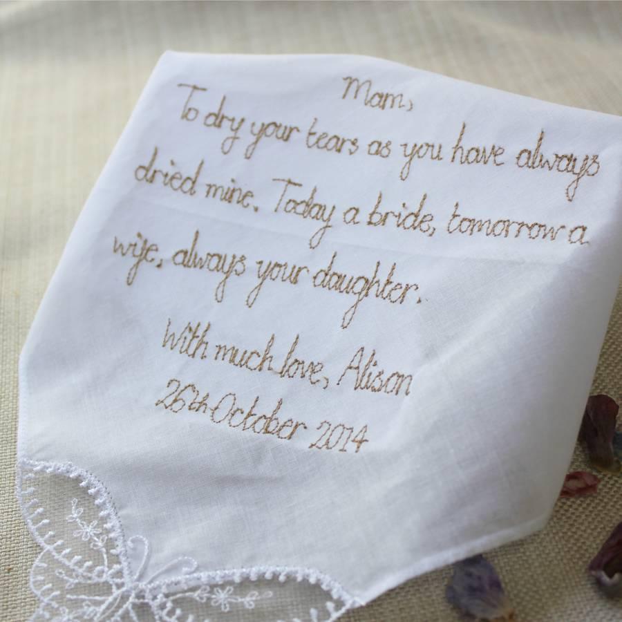 Mother Of The Bride Groom Handkerchief By Mr Teacup