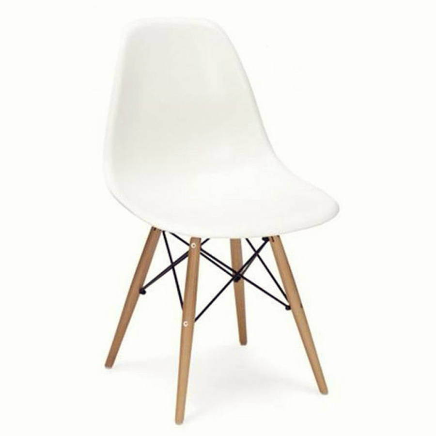 dining chair eames style wood base by ciel