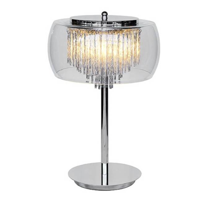 Glass Shade Contemporary Chandelier Table Lamp