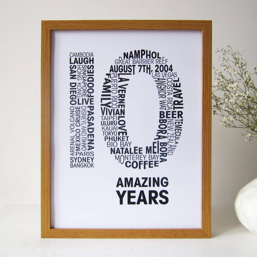 personalised anniversary print by mrs l cards  notonthehighstreetcom