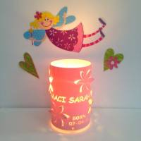 flower personalised table lamp bedside lamp by kirsty shaw ...