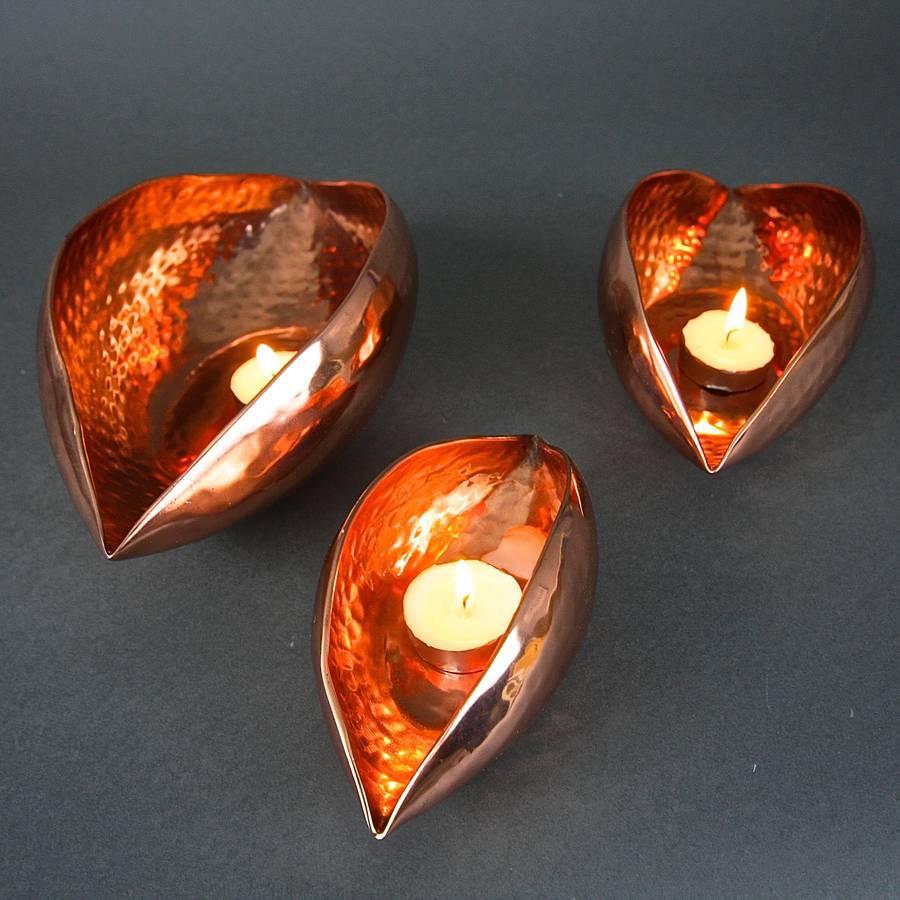 copper oval seed pod votives by london garden trading