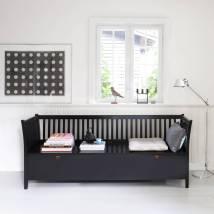 Scandinavian Bench Seat In Black Nubie Modern Kids