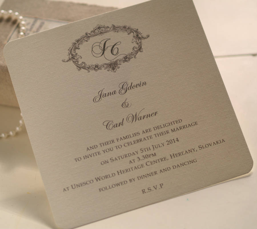 victorian personalised wedding invitations by beautiful