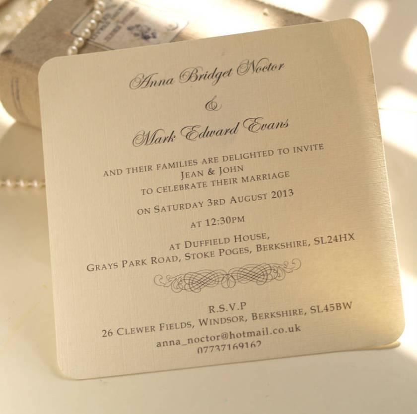 Clic Personalised Wedding Invitation