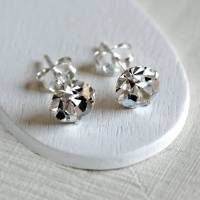 sterling silver diamante stud earrings by highland angel ...