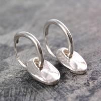 coin drop silver hoop earrings by otis jaxon silver ...