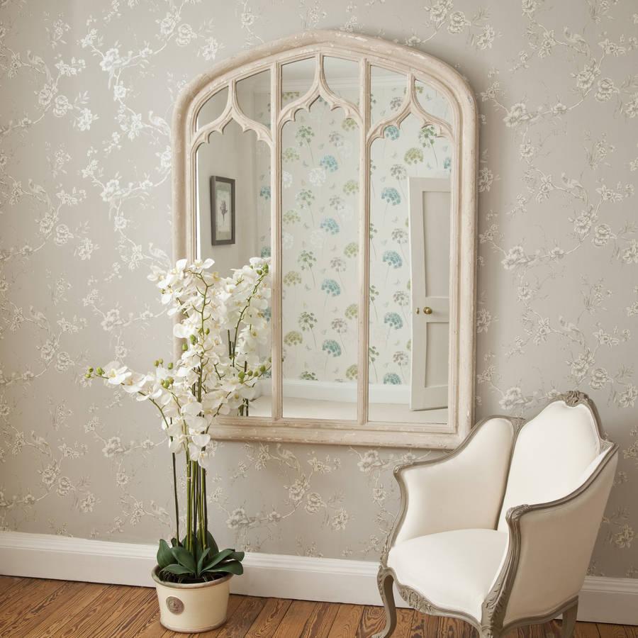 vintage style triple window mirror by decorative mirrors