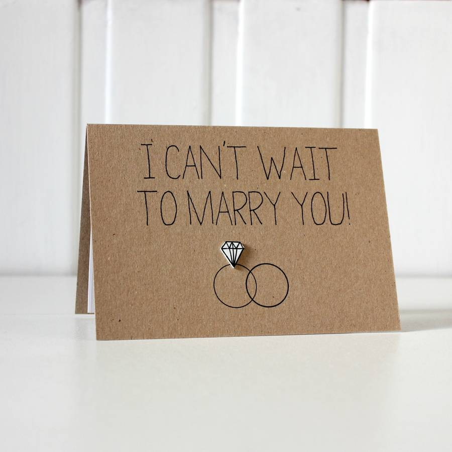 'i Can't Wait To Marry You' Diamond Ring Wedding Card By