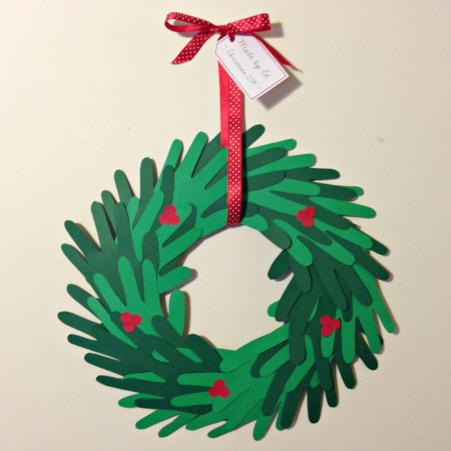 Make Your Own Paper Handprint Wreath By Love Those Prints