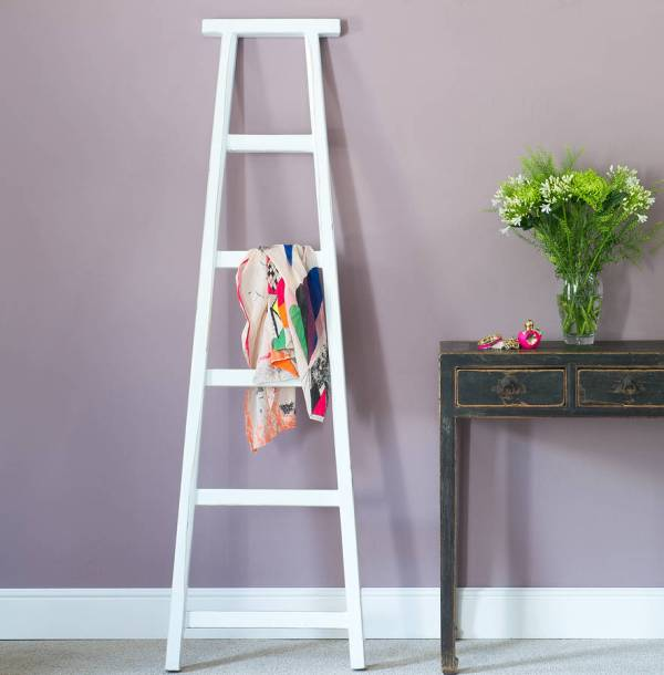 Coloured Wood Towel Ladders Orchid