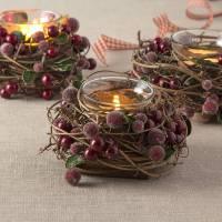 christmas berry tea light holder by the christmas home ...
