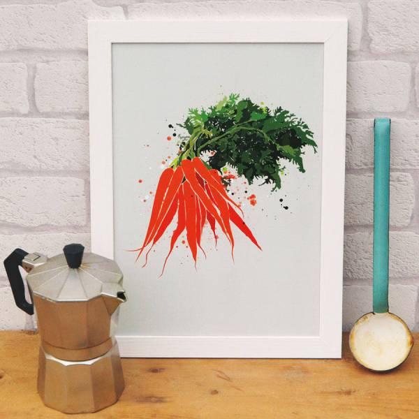 Carrot Vegetable Kitchen Print Paper Plane