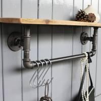 industrial steel pipe storage shelf by ma design ...