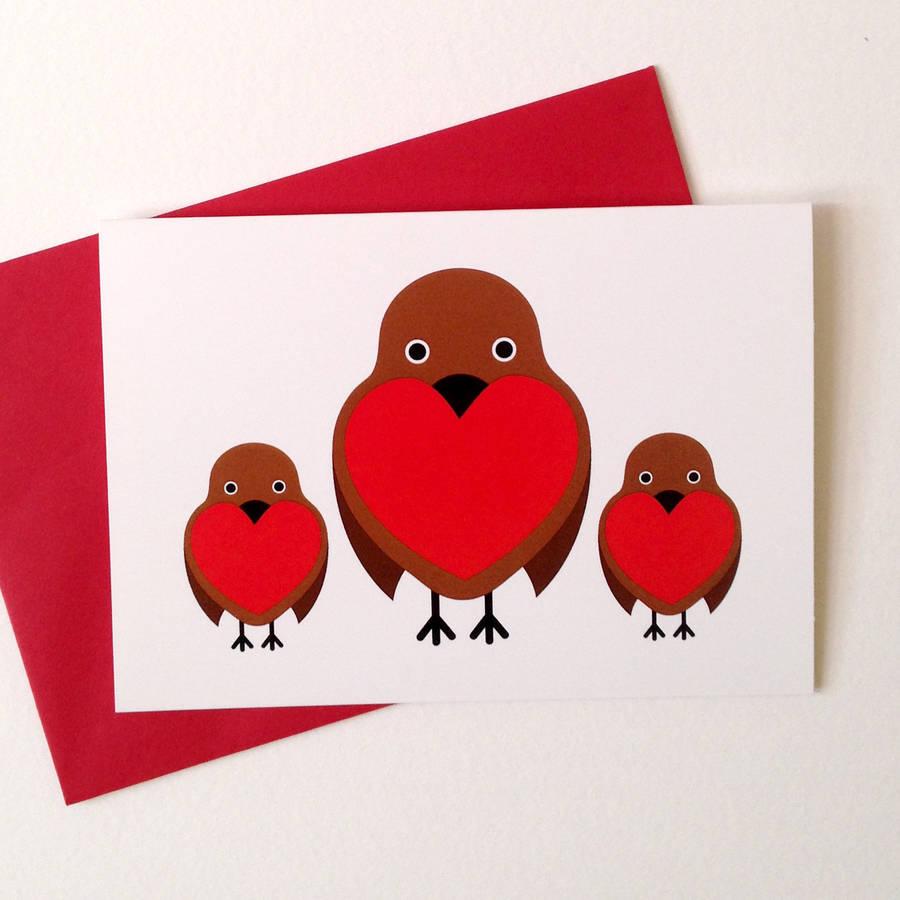 Robin Christmas Cards By Hello Dodo