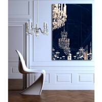 chandelier print canvas wall art by ruby and b ...