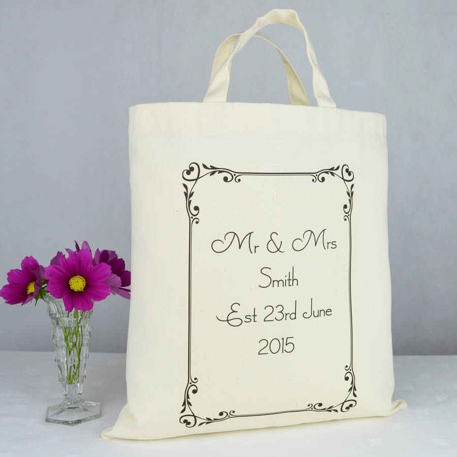 Personalised Mr And Mrs Wedding Gift Bag By Andrea Fays