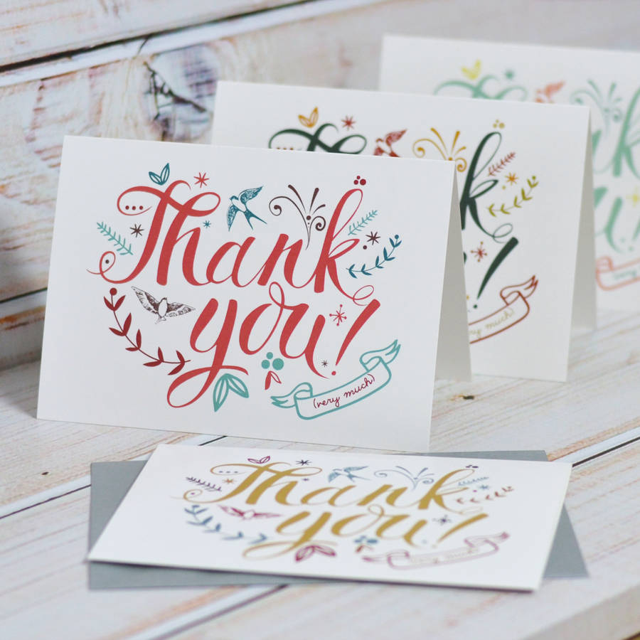 Thank You Cards By Oakdene Designs  Notonthehighstreetm