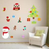removable christmas wall stickers by mirrorin ...
