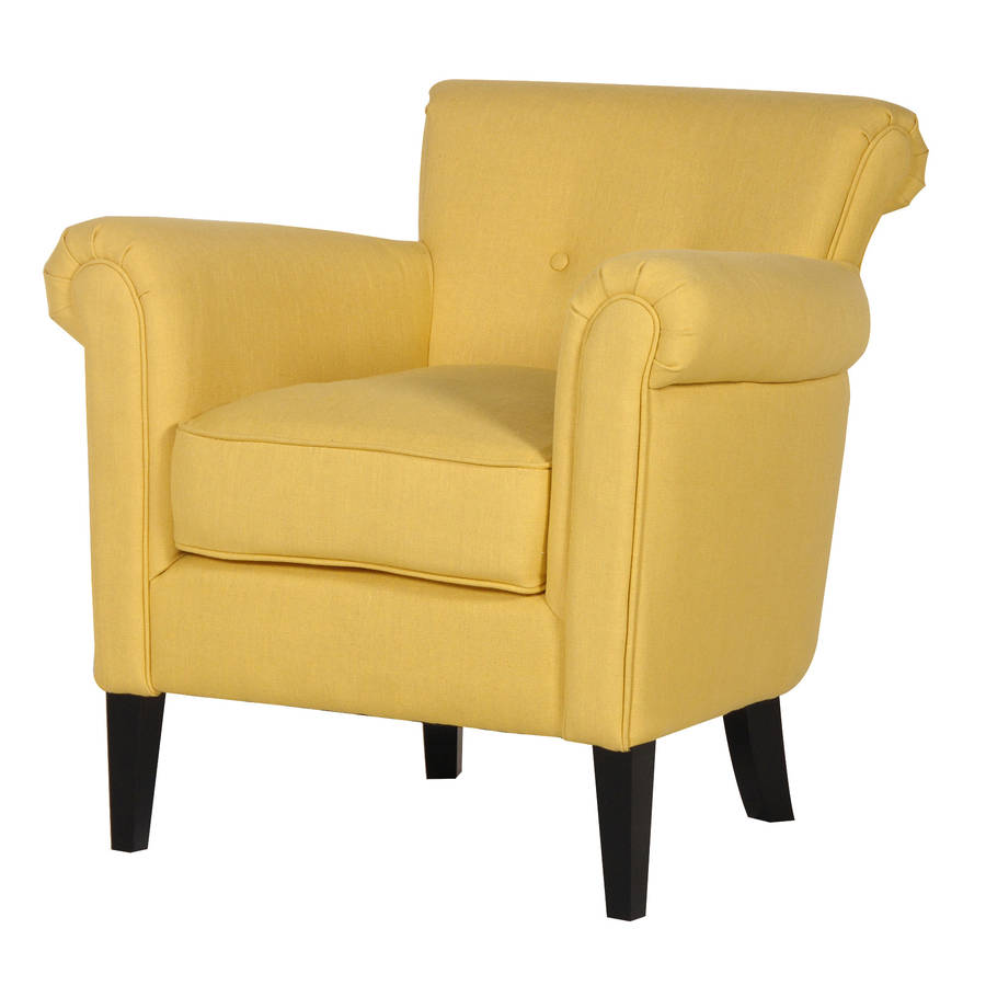 arm chair in yellow by out there interiors