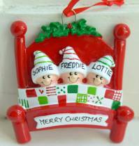 christmas family personalised decoration by letteroom ...