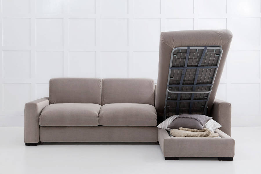 purple corner sofa bed what color goes with light gray walls henry chaise storage by love your ...